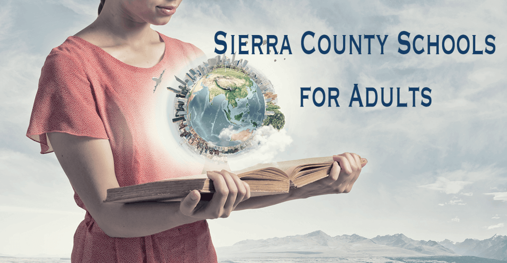 Girl Reading Book. The world is on top, Sierra County Schools for Adults