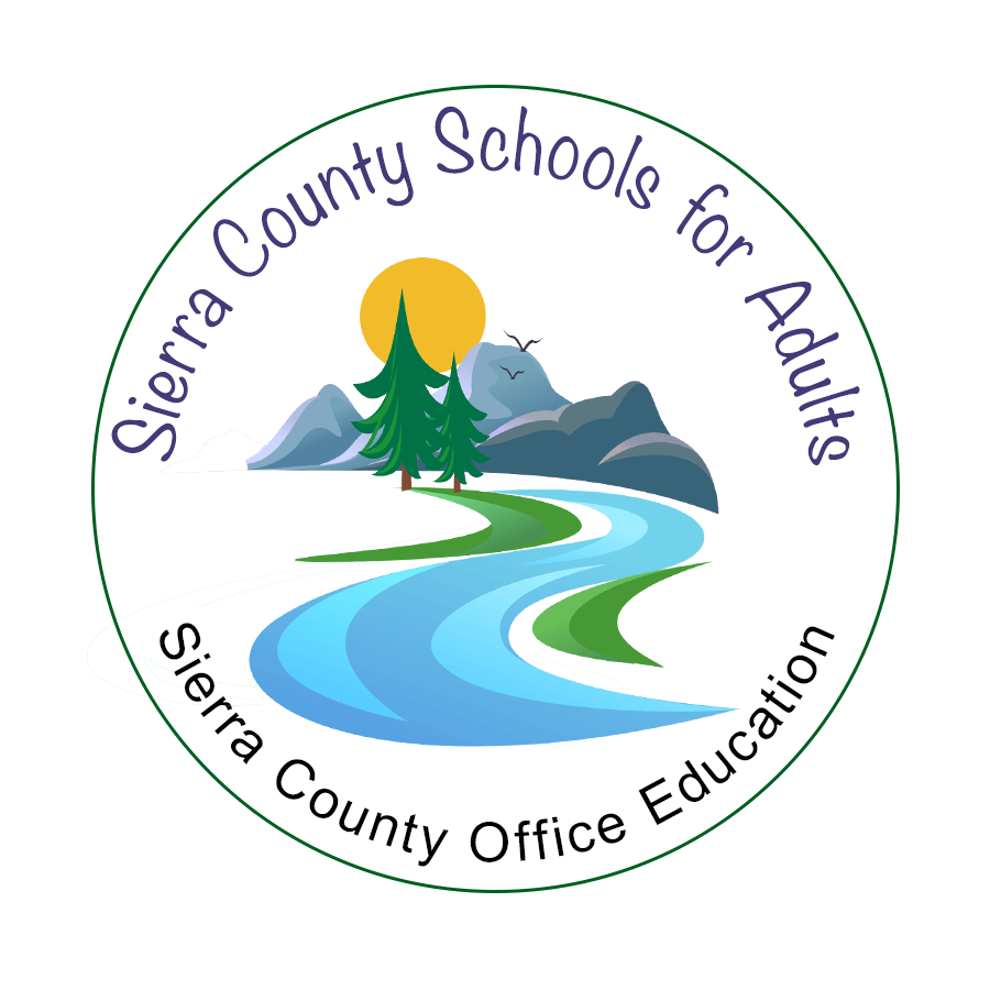 Sierra County School for Adults round logo