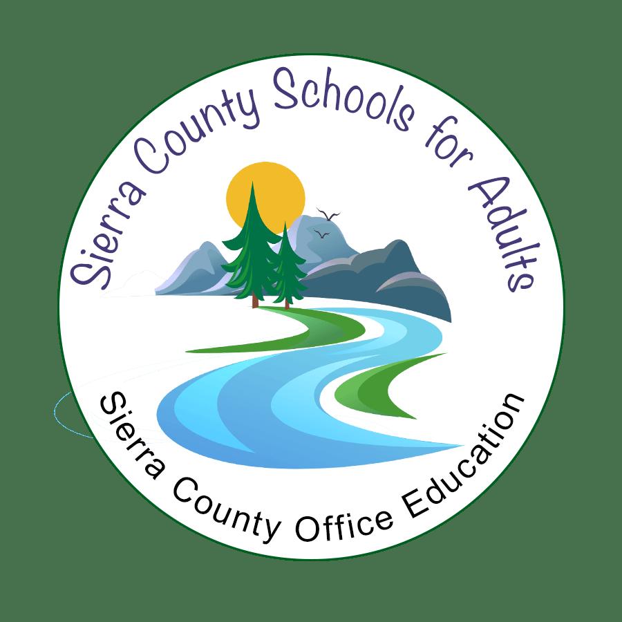 Sierra County School for Adults round logo